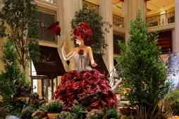 A team of five designers spent 40 hours creating the dresses that were inspired by The Venetian and The Palazzo Roses